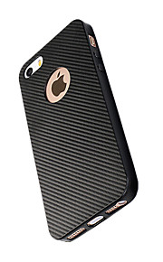 Para Antigolpes Funda Cubierta Trasera Funda Un Color Suave Fibra de Carbono para AppleiPhone 7 Plus iPhone 7 iPhone 6s Plus/6 Plus