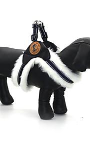 Hunde Seler Reflekterende Justérbar/Udtrækkelig Solid Sort Hvid Brun Stof PU-læder
