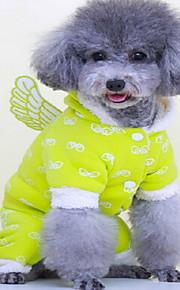 Perros Abrigos Verde Azul Rosado Ropa para Perro Invierno Un Color Adorable