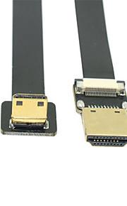 Cy® HDMI 1.4-HDMI 1.4 Plaqué or Câble 1080P 0.1m (0.3Ft)