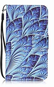Per Porta-carte di credito A portafoglio Con supporto Con chiusura magnetica Fantasia/disegno Custodia Integrale Custodia Fiore decorativo