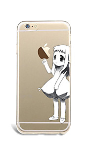 For The girl Case Back Cover Case Playing with Apple Logo Soft TPU for Apple iPhone 7 Plus iPhone 7 iPhone 6s Plus/6 Plus iPhone 6s/6