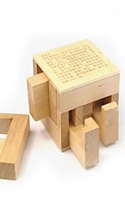 Brinquedo Educativo Kong Ming bloqueio Brinquedos Originais Quadrangular Madeira Cáqui Para Meninos Para Meninas 2 a 4 Anos