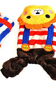 Dog Costume Multicolor Dog Clothes Spring/Fall Lion Cute