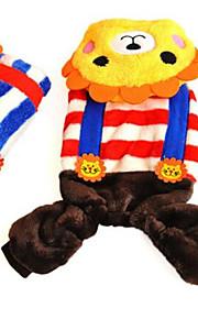 Cani Costumi Multicolore Abbigliamento per cani Primavera/Autunno Leone Divertente