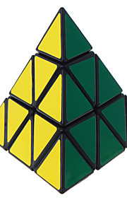 Legetøj Let Glidende Speedcube Pyraminx Professionelt niveau Magiske terninger Sort Fade glat Sticker Anti-pop Justerbar fjeder ABS