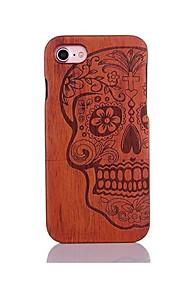 För Stötsäker Läderplastik Mönster fodral Skal fodral Döskalle Hårt Trä för AppleiPhone 7 Plus iPhone 7 iPhone 6s Plus/6 Plus iPhone 6s/6