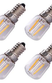 2W E14 LED-gloeilampen G60 2 COB 150 lm Warm wit Decoratief AC 220-240 V 4 stuks