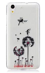 Voor Ultradun Patroon hoesje Achterkantje hoesje Paardenbloem Zacht TPU voor Huawei Huawei Honor 5C