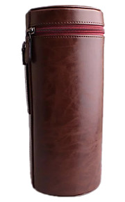 L Camera Lens Case for All Camera Lens Nikon Canon Pentax Sony Olympus... (Black/Brown/Coffee)