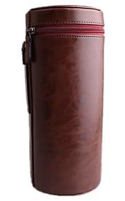 l kameralinsen tilfældet for alle kameralinse nikon canon PENTAX sony olympus ... (sort / brun / kaffe)