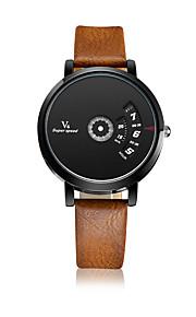 V6® Men's Women's Fashion Watch Quartz / Leather Band Casual Black White Red Yellow Brand