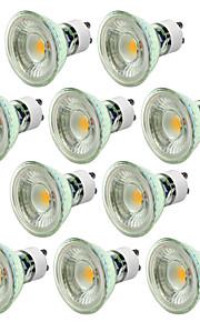 5W GU10 LED-spotpærer MR16 1 COB 500 lm Varm hvit Kjølig hvit Dimbar AC 220-240 V 10 stk.