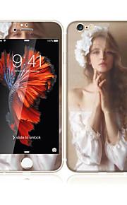 für apple iphone 6s / 6 4.7 aus gehärtetem Glas mit weichem Rand Vollbildabdeckung Frontdisplayschutzfolie und Rückenprotektor sexy