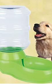 Pies Miski i butelki wody Zwierzęta domowe Miski i Żywienie Odblaskowy Zielony Plastikowy