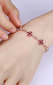 Chain Bracelet Sterling Silver Flower Natural Fashion Gift Jewelry Gift 1pc