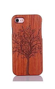 För Stötsäker Läderplastik Mönster fodral Skal fodral Träd Hårt Trä för AppleiPhone 7 Plus iPhone 7 iPhone 6s Plus/6 Plus iPhone 6s/6