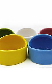 Knaagdieren Chinchilla's Voerbakken en drinkflessen Waterdicht Keramiek Wit Groen Blauw Roze Geel