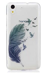 Voor Ultradun Patroon hoesje Achterkantje hoesje Veer Zacht TPU voor Huawei Huawei Honor 5C