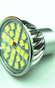 4.5W GU10 LED-spotpærer MR16 24 SMD 5050 300 lm Varm hvit Kjølig hvit Dimbar AC220 V 1 stk.