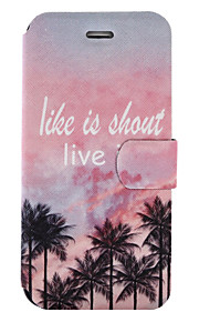 For iPhone 7Plus 7 PU Leather Material Maple Pattern Painted Phone Case 6s Plus 6Plus 6S 6 SE 5s 5