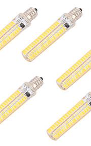 5W E14 E17 E11 LED 콘 조명 T 136 SMD 5730 400 lm 따뜻한 화이트 차가운 화이트 밝기 조절 장식 AC 220-240 AC 110-130 V 5개