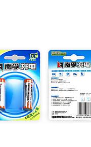 Nanfu AA Ni-MH-batteri 2400mAh leksaksbil / blodsockermätare / klocka klocka / mus tangentbord batteri 2 förpackningar