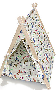 Log Triangular Tent Warm Kennel Cat Pet Beds Pet Supplies
