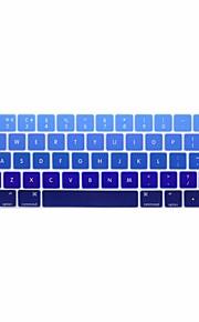 xskn® europeiska engelska gradient silikon tangentbord huden och pekfältet skydd för 2016 nyaste MacBook Pro 13,3 / 15,4 med touch bar