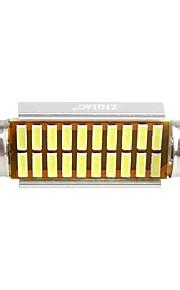 ziqiao 41mm 20 SMD LED 4014 CANbus bil girlander interiør lyspærer (12V / 2 stk)