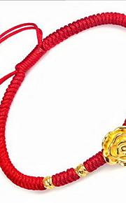 Armbånd Kæde & Lænkearmbånd Sølv Guldbelagt Nylon Blomstformet Andre Mode Fødselsdag Julegaver Smykker Gave Gylden Rød,1 Stk.