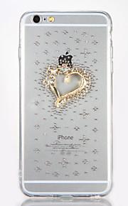 För Strass GDS (Gör det själv) fodral Skal fodral Hjärta Hårt Akrylfiber för AppleiPhone 7 Plus iPhone 7 iPhone 6s Plus iPhone 6 Plus