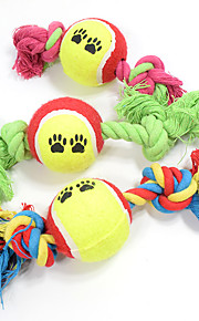 Cat Toy Dog Toy Pet Toys Ball Chew Toy Interactive Teeth Cleaning ToyRope Durable Elastic Halloween Nobbly Wobbly Candy Woven Cartoon Cat