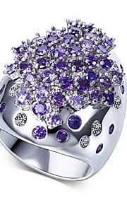 Ringe Andre Mode Personaliseret Euro-Amerikansk Daglig Afslappet Smykker Legering Zirkonium Guldbelagt Ring 1 Stk.,6 7 8 9 10 Hvid Regency
