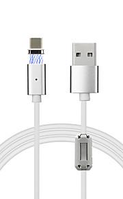 USB 2.0 C를 입력 마그네틱 케이블 제품 Samsung Huawei Sony Nokia HTC Motorola LG Lenovo Xiaomi 120 cm PVC 알루미늄