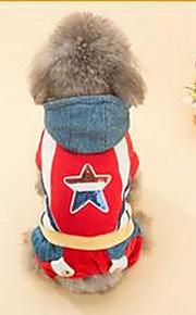 Собаки Плащи Несколько цветов Одежда для собак Зима Звезды Милые На каждый день