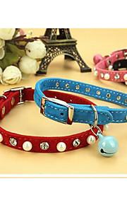 Kissat Koirat Kaulapannat Säädettävä/Sisäänvedettävä Tukeva Punainen Maalattu Sininen Pinkki PU Leather