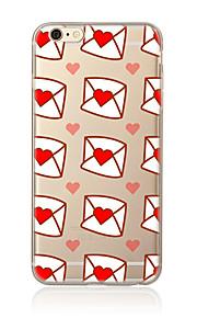 För Genomskinlig Mönster fodral Skal fodral Hjärta Mjukt TPU för AppleiPhone 7 Plus iPhone 7 iPhone 6s Plus/6 Plus iPhone 6s/6 iPhone