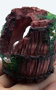 Aquarium Decoration Ornament Non-toxic & Tasteless Resin Brown