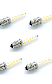 2W E14 LED-gloeilampen T 2 COB 180 lm Warm wit Koel wit Decoratief AC 12 V 5 stuks