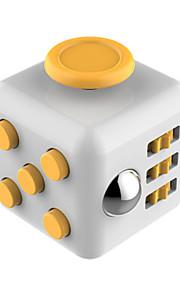 Brinquedos Cubo Macio de Velocidade Cube Fidget Novidades Alivia Estresse Cubos Mágicos Amarelo Dourada / Plástico