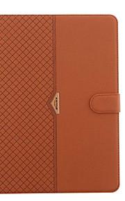 För med stativ Lucka fodral Heltäckande fodral Enfärgat Hårt PU-läder för Apple iPad Mini 4 iPad Mini 3/2/1