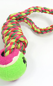 Cat Toy Dog Toy Pet Toys Ball Chew Toy Interactive Teeth Cleaning ToyRope Durable Elastic Halloween Nobbly Wobbly Woven Dog Footprint