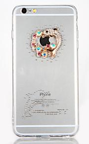 För Strass GDS (Gör det själv) fodral Skal fodral Tecknat Hårt Akrylfiber för AppleiPhone 7 Plus iPhone 7 iPhone 6s Plus iPhone 6 Plus
