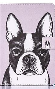 Voor Kaarthouder met standaard Flip Patroon Magnetisch hoesje Volledige behuizing hoesje Hond Hard PU-leer voor Apple iPad 4/3/2