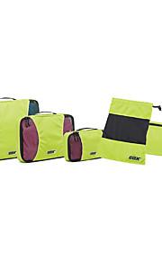 Bolsa de Viagem para Organizadores para Viagem Tecido-Laranja Azul Escuro Cinzento Verde Claro