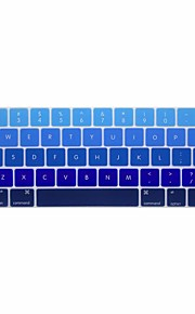 XSKN® English Gradient Silicone Keyboard Skin and Touchbar Protector for 2016 Newest MacBook Pro 13.3/15.4 with Touch Bar Retina (US Layout)