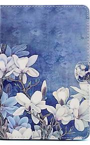 Pour Avec Support Motif Coque Coque Intégrale Coque Fleur Dur Cuir PU pour Apple iPad Mini 4 iPad Mini 3/2/1