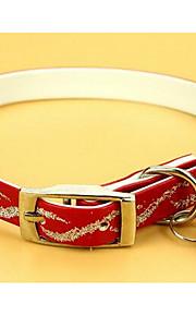 Kissat Koirat Kaulapannat Säädettävä/Sisäänvedettävä Tukeva Rusetti Punainen Sininen Pinkki PU Leather
