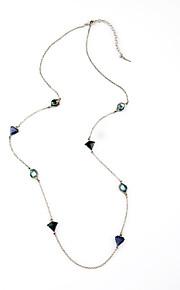 Dame Kædehalskæde Geometrisk form Mode Personaliseret Mørkeblå Smykker For 1 Stk.